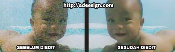Hasil edit foto dari kamera HP