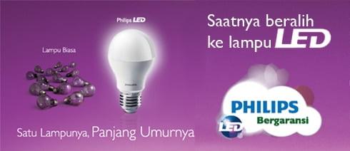 Lampu Philips LED MyVision Solusi Irit Menggunakan Lampu